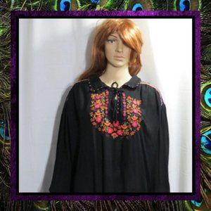 Boho Embroidered Gypsy Blouse Top